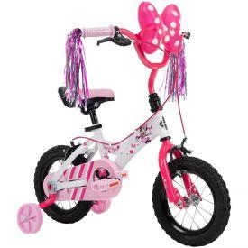 "12"" white Disney Minnie bike"