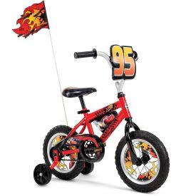 "Red 12"" Disney Pixar Cars bike with flag"