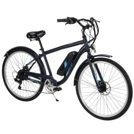 "Huffy Everett 27.5"" Electric Bike for Adults, Black"
