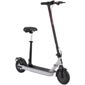 Huffy 36V Electric Folding Lightweight Scooter with Seat for Adults, Gray