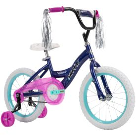 Dark purple girls bike
