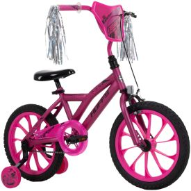 girls pink 16-inch bike