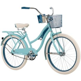 Nel Lusso Women's Cruiser Bike, Light Blue, 24-inch