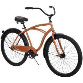 "Good Vibrations men's 26"" orange metallic cruiser bike"