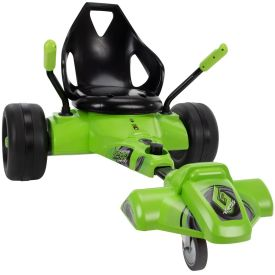 The Huffy vortex in green with dual stick steering
