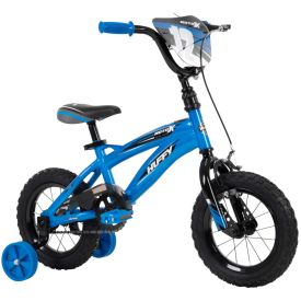 Boys 12-inch bike with blue and black features