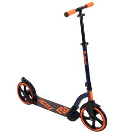 Commuter kick scooter in black with orange highlights