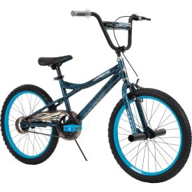 BMX Style Bike in neon blue and black colors