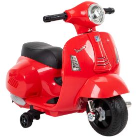 Vespa H1 Electric Toddler Ride-On Toy for Kids, Red, 6V