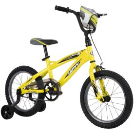 Huffy 16 inch bike with handbrakes and training wheels
