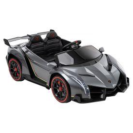 Gray 12-volt Lamborghini Veneno kids' battery ride-on car