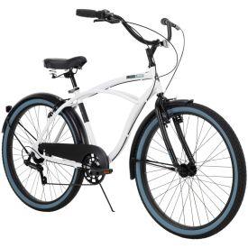 "26"" Lockland men's white 7-speed cruiser bike"
