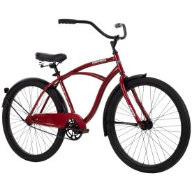Men's beach cruiser in dark red