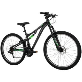 Mens 26-inch mountain bike with dual suspension