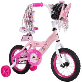 Disney Minnie Girls' Bike, Pink, 12-inch
