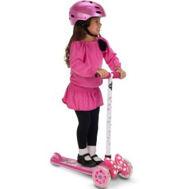 5 year old girl riding the Minnie Mouse Scooter by Huffy
