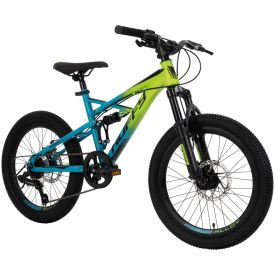 20-inch mountain bike for kids with blue and green colors