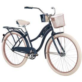 "26"" denim blue Nel Lusso women's cruiser bike"