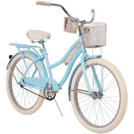 """Sky blue 24"""" Nel Lusso women's bike"""