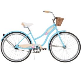 Women's Panama Jack beach style bike by Huffy in glossy light blue