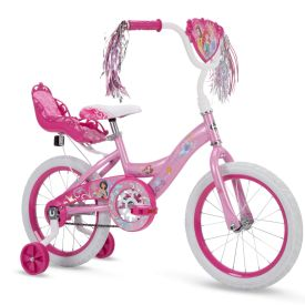 Disney Princess Girls' EZ Build Bike, Pink, 16-inch
