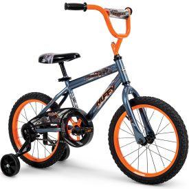 """Gray and orange 16"""" Pro Thunder bike"""