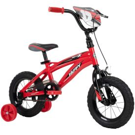 12-inch kids bike in red with black features