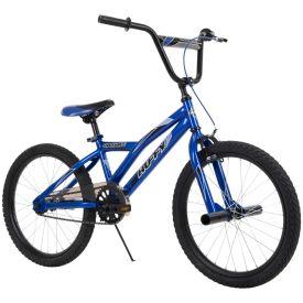 """20"""" blue Shockwave BMX-style bike"""