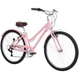 Light pink comfort bike for women
