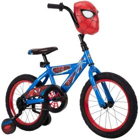 Marvel Spider-Man Boys' EZ Build Bike with Mask, 16-inch