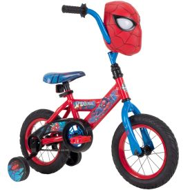 Marvel Spider-Man Boys' EZ Build Bike with Mask, 12-inch