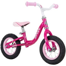10-inch balance bike in hot pink