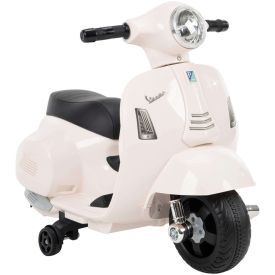 Vespa H1 Electric Toddler Ride-On Toy for Kids, White, 6V