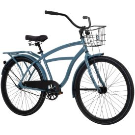 Men's beach cruiser in matte blue with black features